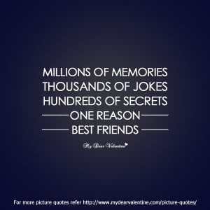 best friend quotes - Millions of memories