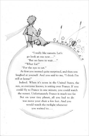 Here's a page from The Little Prince :