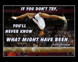 Gymnastics Poster Gabby Douglas Cha mpion Gymnast Photo Quote Wall Art ...