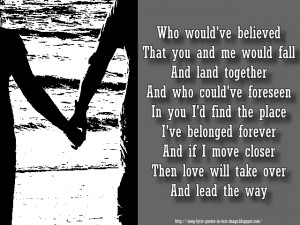 Lead The Way - Mariah Carey Song Lyric Quote in Text Image