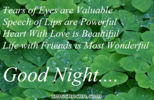 good night friendship picture sms facebook