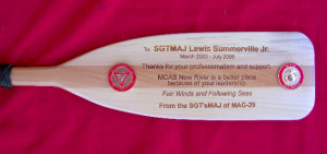 Add a special touch to your oar plaque..... Have the entire