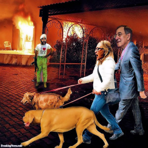 Leon Panetta and Hillary Clinton in Benghazi pictures