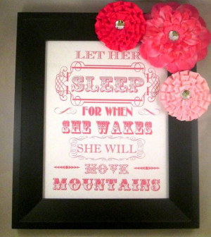 Inspirational Quote Nursery Decor She will by MyMiaBellaBoutique, $23 ...