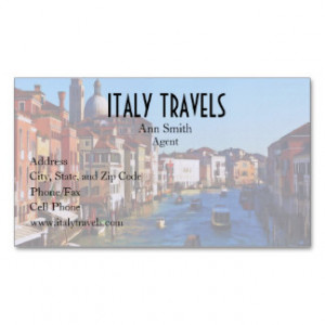 Venice Canal with Love Quote Double-Sided Standard Business Cards ...