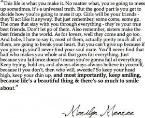 Marilyn Monroe was brilliant…