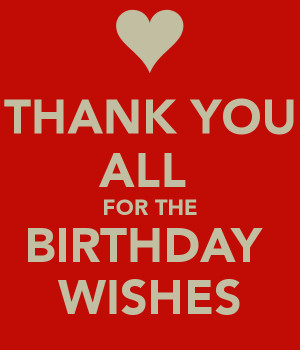 Birthday Wishes Thank You for All