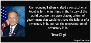Our Founding Fathers crafted a constitutional Republic for the first ...