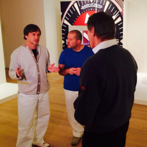Apple's SVP of design Jony Ive and industrial designer Marc Newson ...