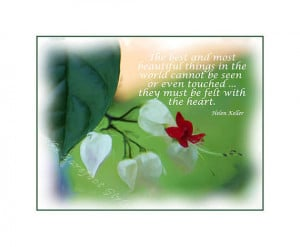 Bleeding Heart Bloom - Helen Keller Quote - Fine Art Photographic ...
