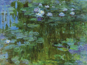 Famous French Painters Flower Paintings About The Water Lilies