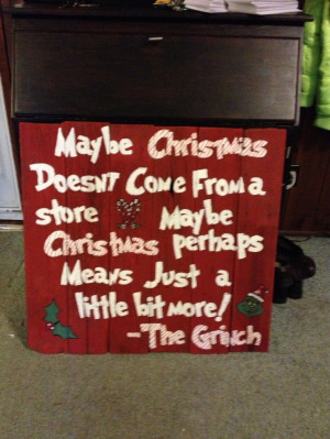 grinch quote on fence boards