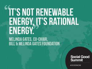 Melinda Gates / Quotes from the 2013 Social Good Summit #2030NOW