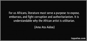 More Ama Ata Aidoo Quotes
