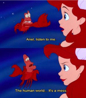 ariel disney princess quotes eric little mermaid funny doblelol