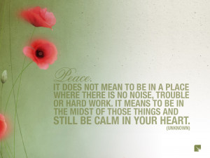 Peace In Your Heart Quote High Resolution Wallpaper, Free download ...