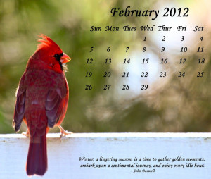 Free February 2012 Calendar Download