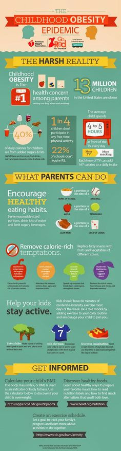 The Childhood Obesity Epidemic an infographic presented by the ...