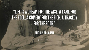 aleichem quotes sholom aleichem quotes quote card by sholom aleichem