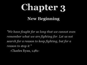 New Chapter Quotes Beginning of chapter 3.