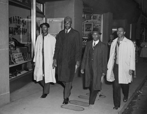 David Richmond (from left), Franklin McCain, Ezell Blair Jr., and ...
