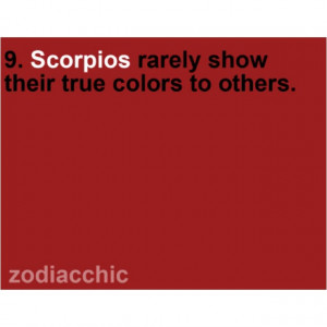 Truth about scorpios