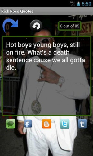 Rick Ross Quotes, an app that provides the best Rick Ross quotes ...