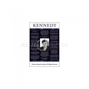 John F Kennedy (Quotes) Art Poster