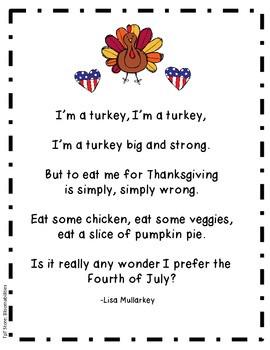 Patriotic Turkey (Poem for Thanksgiving)