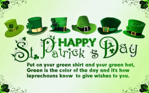 Happy St Patrick's Day 2015 Greetings, Quotes, Sayings For Kids ...