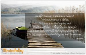 On lifes journey Faith is nourishment