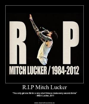 Adios, Mitch Lucker.