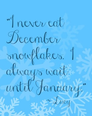 ... Snowflake Quote Print (plus over a dozen snow-related craft projects