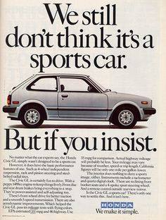 Funny Honda Civic Quotes Vintage 1970's honda civic
