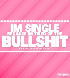 Instagram quotes about being single 1