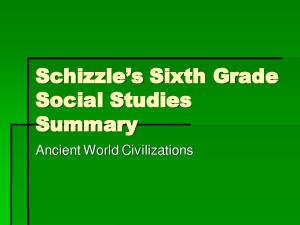 Social Studies Syllabus Grade