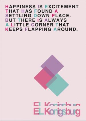 El Konigsburg Quote | Typography Poster