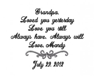 Grandfather Handkerchief -Hankie - Hanky - Loved you YESTERDAY, Love ...