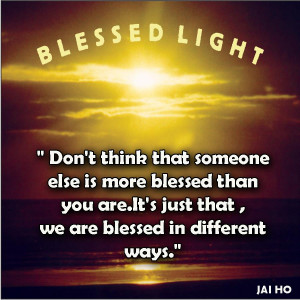 Motivational Quote on being blessed