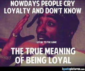 People Being Loyal