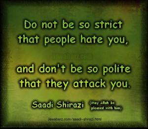 Saadi Shirazi Poems In English Clinic