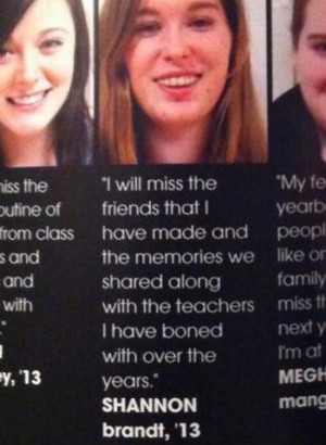 35 Funny Yearbook Quotes of Uninspired Seniors