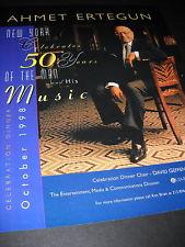 AHMET ERTEGUN celebrates 50 Years 1998 PROMO POSTER AD