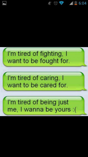 Im tired...