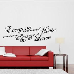 Happy Quote lettering Everyone brings joy wall DIY adhesive sticker ...