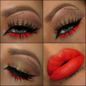 eye makeup, hairstyle, lips, lipstick, make up, makeup, manicure