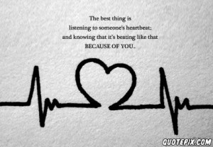 Love Heart Beat Quotes Heart beat
