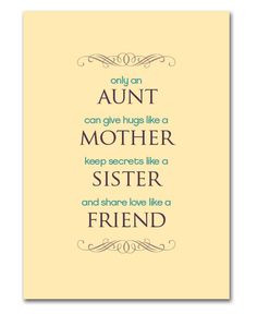 Mother's Day Printable for Aunts More