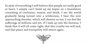 from Anne Frank: The Diary of a Young Girl by Anne Frank