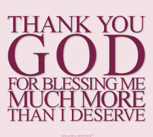 The Thank You God For Blessings Quotes